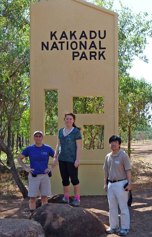 Jon, Laurel and Jim entering Kakadu