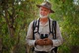 Mike Jarvis at Mamukala during Kakadu Bird Week.   (photo copyright Australian Broadcasting Commission)