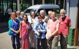Our group at the Glenloch Tea Factory with our guide Nirosha  (photo copyright Mike Jarvis)