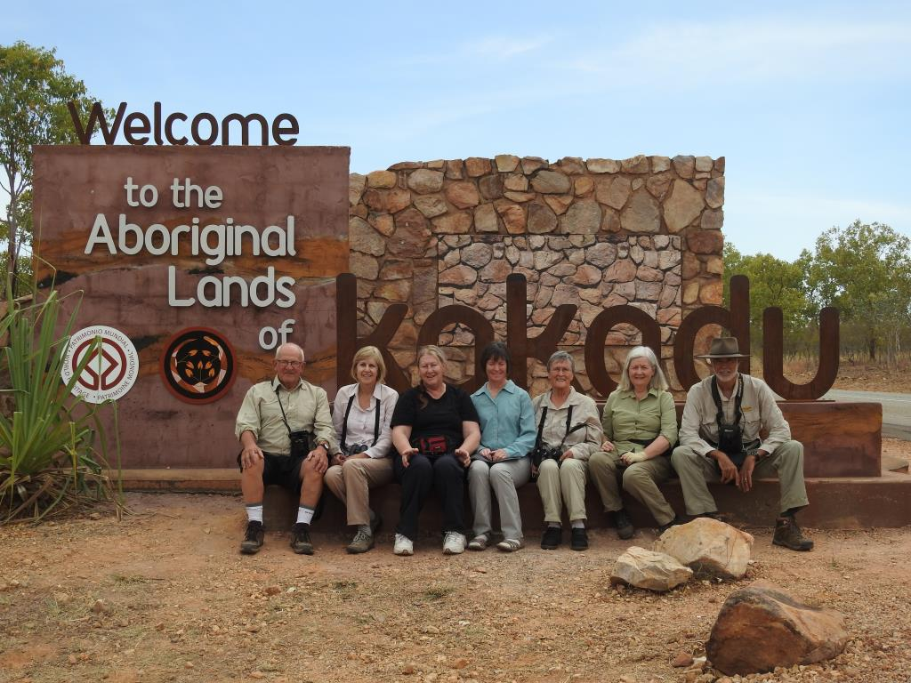 Kakadu entry statement with group from August 2016 tour  (photo copyright Mike Jarvis)
