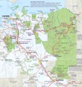 Top End Photography Tour route map. The numbers are showing where each night is spent.  (photo copyright Tourism NT)