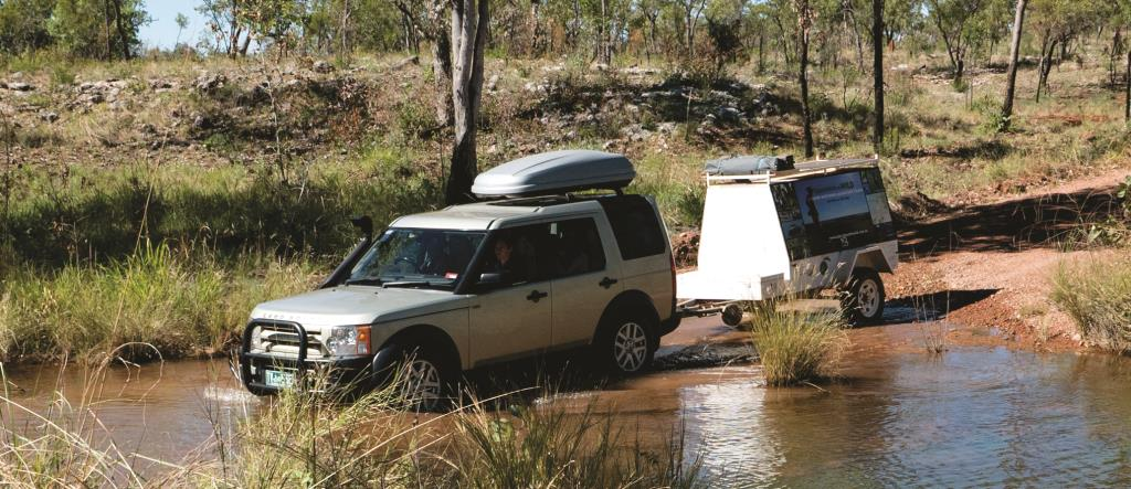 Crossing a creek on the Bullita access road  (photo copyright Marg Lacey)