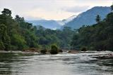 The beautiful Kelani River in Kitulgala Forest. The Bridge on the River Kwai was filmed near here.  (photo copyright Dr Kishan Pandithage)