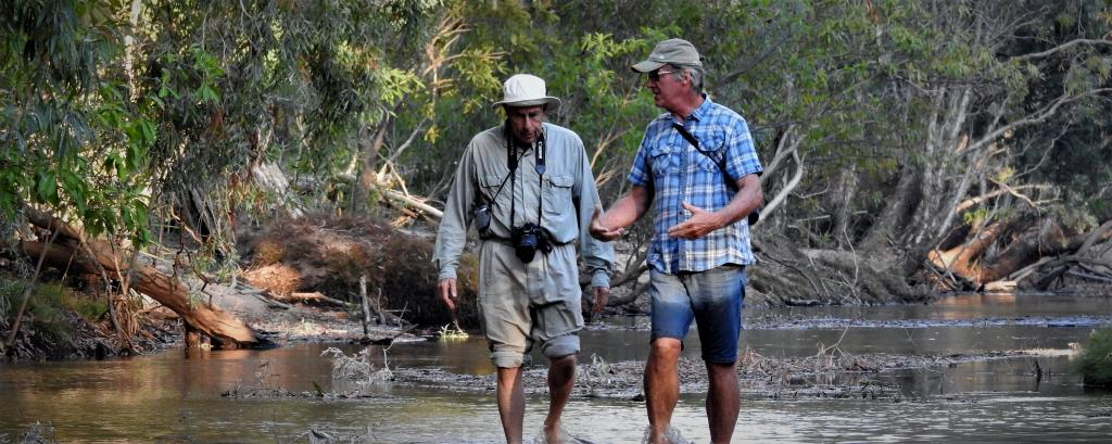Ian Morris and guest at Gungurul, Kakadu  (photo copyright Mike Jarvis)