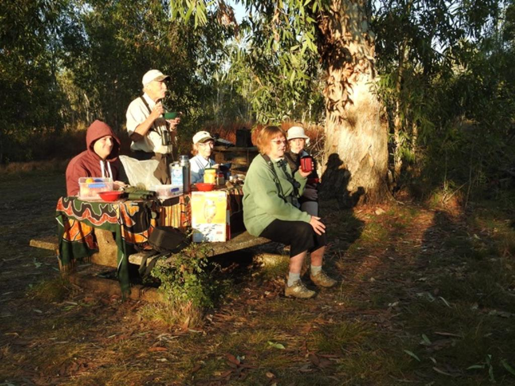 Bush breakfast at Anbangbang Billabong, 'Kakadu Nature's Way' tour  (photo copyright Mike Jarvis)