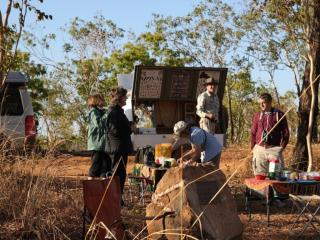 Bush breakfast on the Marrakai track, 'Kakadu Nature's Way' tour  (photo copyright Mike Samuel)
