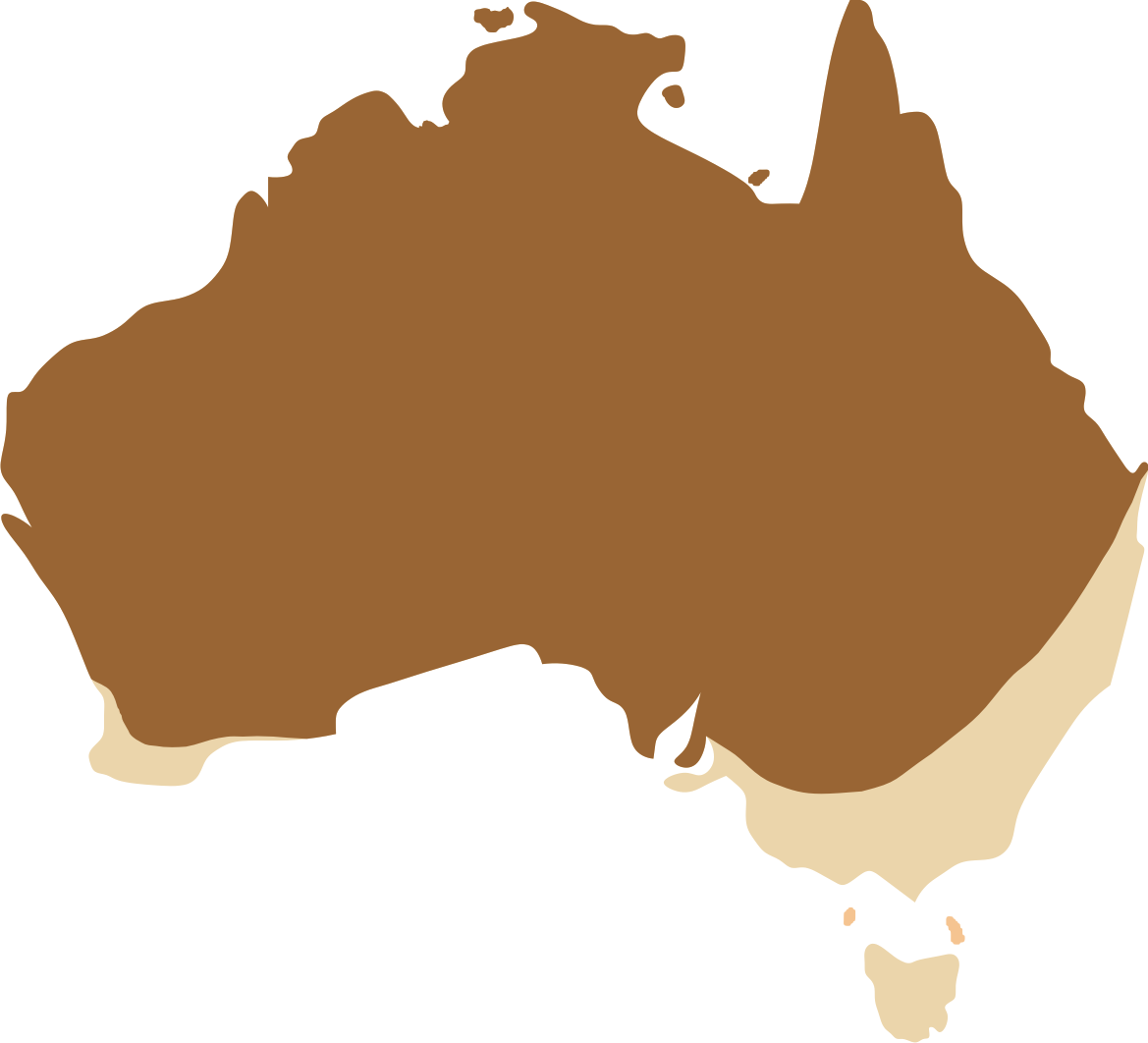 Australian Bustard Distribution Map